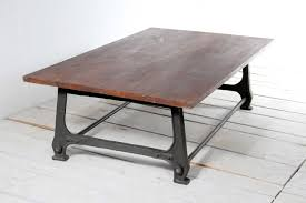 belgian cast iron with oak top coffee table omero home garden