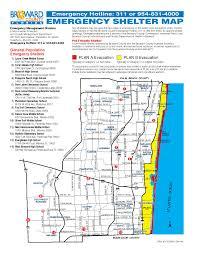 Florida City Map Hurricane Evacuation Map City Of Dania Beach Florida Official