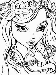 spectacular design coloring sheets pages for girls kids anime