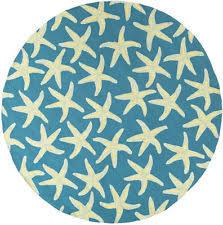 Round Nautical Rugs Starfish Rug Ebay