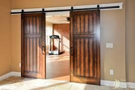 Dark Wood Interior Barn Doors Styleshouse