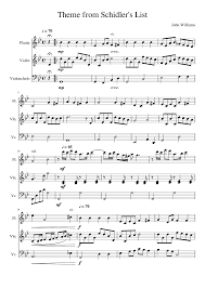 theme schindler s list cello theme from schindler s list sheet music for flute violin cello
