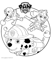 cartoon coloring pages paw patrol coloring pages