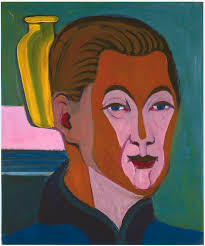 Selbstbildnis des Malers Ernst <b>Ludwig Kirchner</b> aus dem Jahre 1925; - Ernst_Ludwig_Kirchner_Kopf_des_Malers_Selbstbildnis_1925
