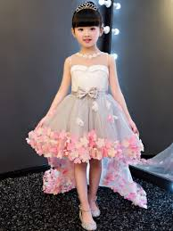 flower dress flower girl dresses 2016 with ivory in white tbdress