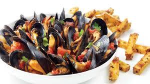 cuisiner moule moules à la tomate et à la coriandre recettes iga fruits de mer