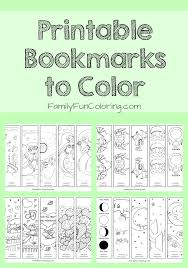 printable bookmarks color free printable coloring pages