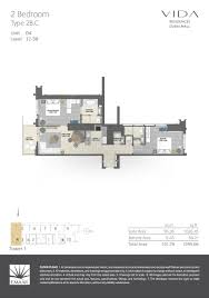floor plans vida residences dubai mall downtown dubai by emaar