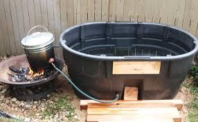 Wood Heated Bathtub Diy Fire Heated Tub Wooden Pdf Wood Playsets Evasive82cay