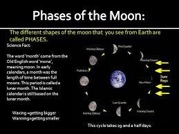 a in space the moon its phases ppt