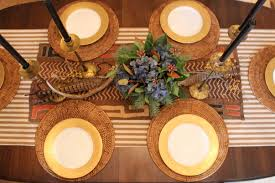 Table Setting Chargers - a table setting to be thankful for two kellys