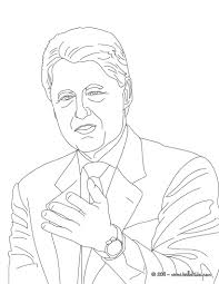 president william clinton coloring pages hellokids com