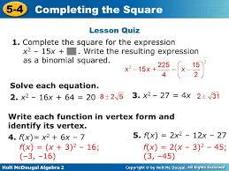 complete the square for the expression x2 15x write