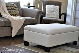 Recover Ottoman Do It Yourself A No Sew Way To Recover An Ottoman Money Saving