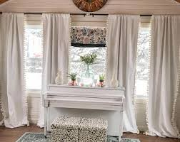 White Curtains For Bedroom Bedroom Curtains Etsy