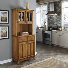 corner hutch cabinet amazon com