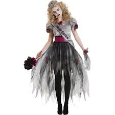 Zombie Halloween Costumes Adults Prom Zombie Halloween Costume Walmart