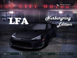 lexus lfa nurburgring youtube need for speed carbon lexus lfa nurburgring edition nfscars