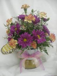jar flowers candle arrangement fresh flowers candle jar colors will vary