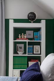 Green Bookcase A Boy U0027s Bookcase And How To Style It Practically The Makerista