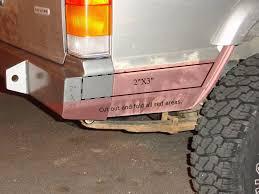 jeep cherokee rear bumper v2 jeep cherokee xj heavy duty fender flares