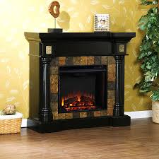 rustic electric fireplace media center insert heater 822 interior