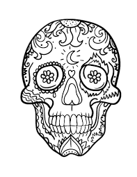 capricious day of the dead printable coloring pages free skull
