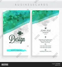Business Cards Front And Back Professional Vertical Business Vector U0026 Photo Bigstock