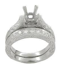 Princess Cut Diamond Wedding Rings by Art Deco Scrolls 1 75 Carat Princess Cut Diamond Engagement Ring