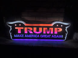 thief swipe elaborate lighted donald sign in