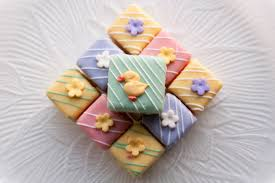 duck decorations file stacked easter petits fours with flower and duck decorations