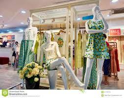 clothing store fashion shop boutique women clothes stock photo