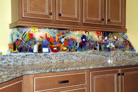 contemporary kitchen backsplash and murals eclectic kitchen
