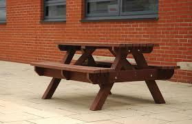 Picnic Benches For Schools Calderglen High External Street Furniture Broxap
