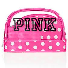 makeup bag trio pink victoria s secret