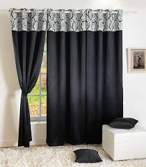 Blackout Window Curtains Home Decor Faux Silk Window Drape Panel Bedroom Blackout Eyelet