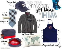 second year anniversary gift ideas 2nd anniversary gift ideas for him and diy playbook