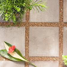 Cheapest Patio Material by Inexpensive 16 In X 16 In Patio Stones Surrounded By Pea Gravel