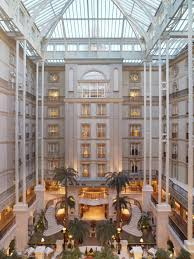 the winter garden glass roof atrium in the landmark hotel london