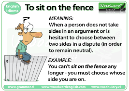 sit on the fence idiom