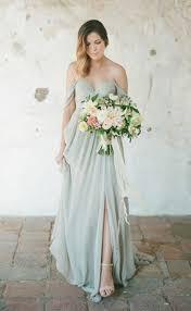 bridesmaids dress chiffon shoulder side slit bridesmaid dresses 2017