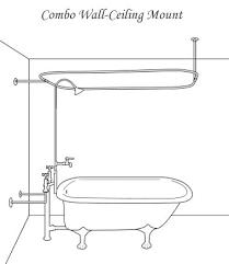 re pin bklyn contessa shower riser clawfoot tub faucet