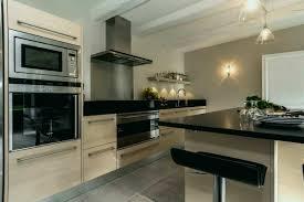 cuisine inox et bois luxury beautiful cuisine bois et noir ideas