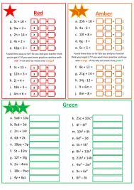 expanding brackets worksheet by floppityboppit teaching