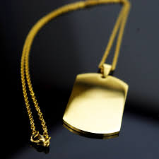 tag chain necklace images Fashion gold dog tag necklaces pendants for women men jewelry jpg