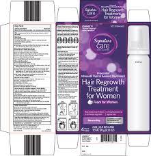 signature care hair regrowth treatment for women aerosol foam