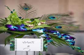 picture of awesome peacock wedding ideas wedding centerpiece