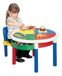 Play Table With Storage And Chairs Liberty House Toys Round 4 Drawer Activity Table Amazon Co Uk