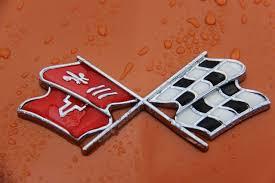 c3 corvette flags c3 corvette crossed flags emblem corvette emblems