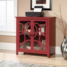 table with glass doors shoal creek elise storage cabinet with glass doors 416840 sauder